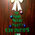 #場所をとらない! 壁面クリスマスツリー