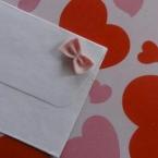 簡単ミニリボン♥封筒のオシャレ