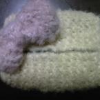 ガーター編みティッシュケース