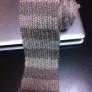 ゴム編みボーダーマフラー