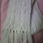 縄編みマフラー