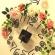 花のメルヘン時計