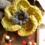 芥子色のお花コサージュ