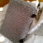 細編みと長編みでつくる母子手帳入れ