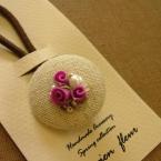 お花のくるみボタン