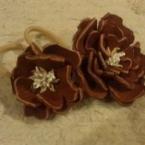 革の花ゴム