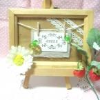 写真立てを使ったメッセージボード