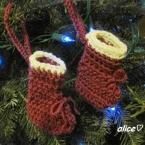 クリスマスツリーのオーナメント用ソックス