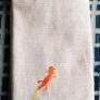 サンショウウオのブックカバー(オレンジ)