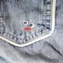 お目めボタンのリメイクポケット