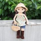 着せ替え人形アニカの麦わら帽子とかごバッグ