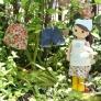 着せ替え人形アニカのエプロンとバブーシュカ