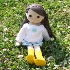 着せ替え人形アニカのカットソーとキュロット