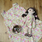 着せ替え人形アニカとペアのスクエアネックワンピース