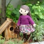 着せ替え人形アニカの長袖ローウェストワンピース