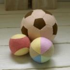 フェルトのサッカーボール、野球ボール、毬ボール