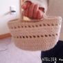 たこ糸のミニミニかごバッグ