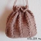 玉編みのきんちゃく
