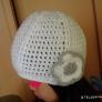 引き上げ編みのキッズ用ニット帽