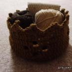 麻糸の王冠バスケット