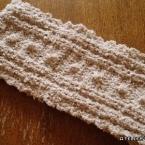 もふもふ♪引き上げ編みのネックウォーマー