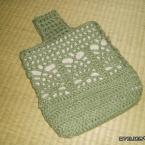 パイナップル編みのシューズバッグ