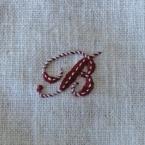 アルファベットの刺繍Ⅰ