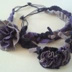 リメイク!!指編みお花のカチューム
