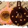 ドーナツのアクリルタワシ