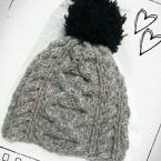 変形縄編みニット帽