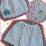 赤ちゃんニット帽&スカート