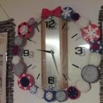 時計×クリスマスリース