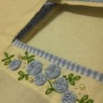 バラの刺繍の手提げ