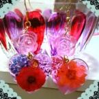 押し花とバラピアス