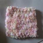 四角の毛糸コースター