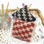 鉤針編みの編み込みピンクッション
