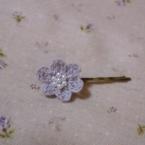カワイイお花のヘアピン