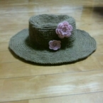 花付き麻の帽子