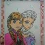アナと雪の女王 ステンドグラス風