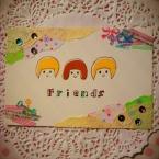 コラージュポストカード/Friends