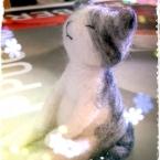 羊毛フェルトの猫1