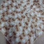 アクリル毛糸で簡単かぎ針編みマフラー