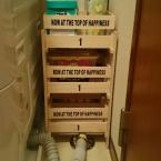 セリアのものだけで洗剤置き場