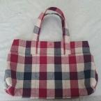 綿麻素材で手提げバッグ