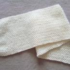 かのこ編みのマフラー