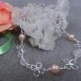 淡水パールと天然石のブレスレット