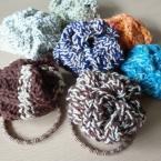 2目ゴム編みで簡単モチーフ