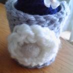 毛糸のコモノ入れカバー