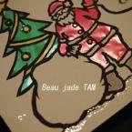 ステンドグラス風 クリスマスカード
