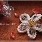 キラキラお花モチーフのゴム